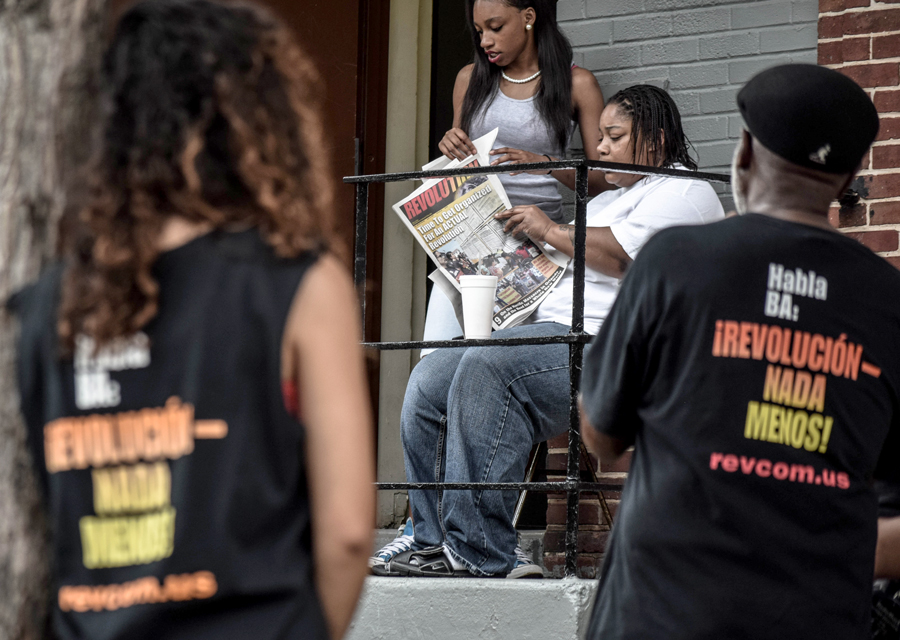 The Revolution Club in the neighborhood where Freddie Gray lived.