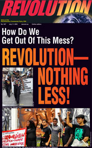 Revolution #447, July 11, 2016- front page