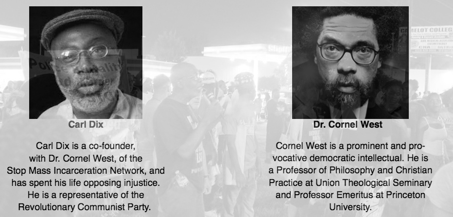 Carl Dix and Dr. Cornel West