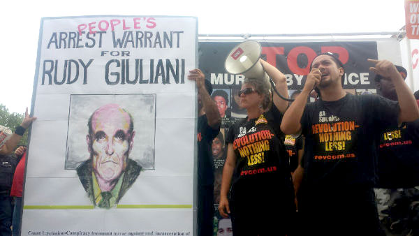 Revolution Club delivers 10-foot indictment to Giuliani in Cleveland