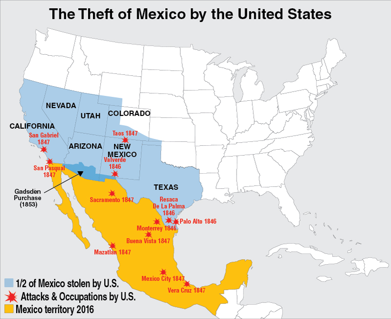 American Crime Case 83 The Us Mexico War Of 1846 1848 - Us-map-before-mexican-american-war