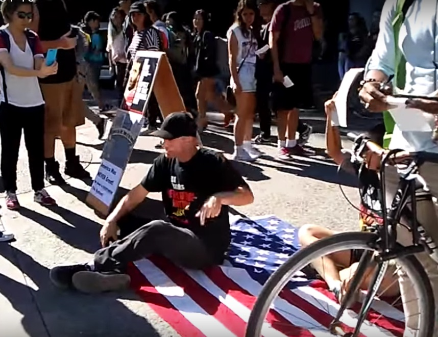 The Revolution Club, Bay Area, shook up UC Berkeley by jumping into Kaepernick shitstorm, DIS-Respecting the Flag, and challenging people to get organized for an ACTUAL revolution.