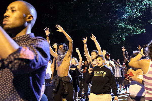 Charlotte, NC, Sept 21, 2016 protest police murder of Keith Lamont Scott