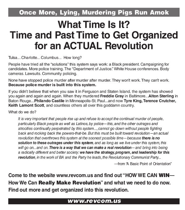 What time is it? Time and past time to get organized for an ACTUAL revolution