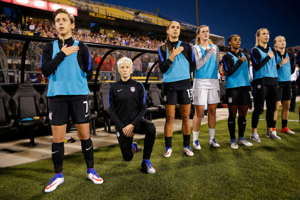 Megan Rapinoe continues her protest