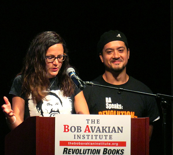 Sunsara Taylor and Noche Diaz read excerpts from THE NEW COMMUNISM at the book lauch in Harlem October 8