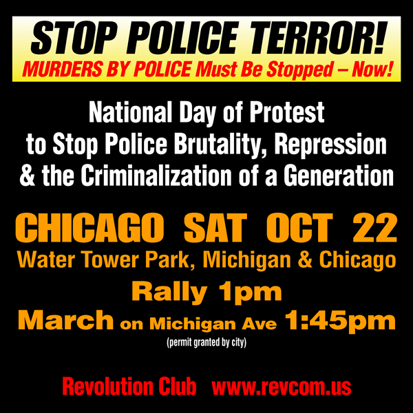 October 22 protest in Chicago