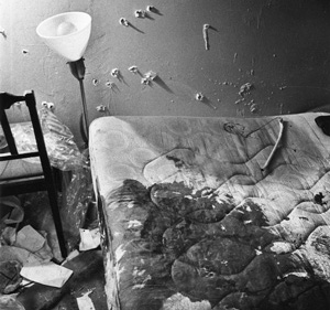Fred Hampton's bed, after his murder by Chicago police