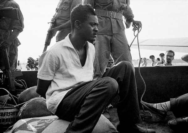 In one of the last photos taken of him while still alive, Patrice Lumumba is shown captive on December 2, 1960.