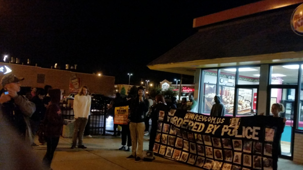At the Burger King after the police murder of Joshua Beal