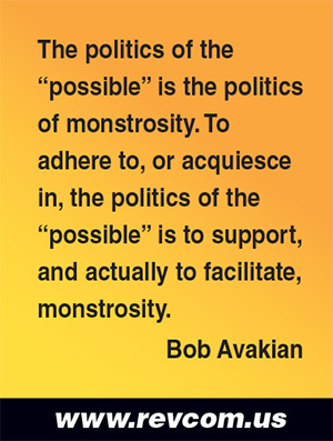The politics of the possible is the politics of monstrosity