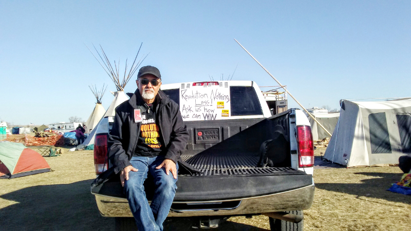 Travis Morales at Standing Rock