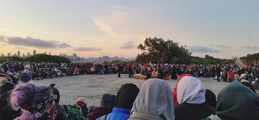 Indigenous People's Day Sunrise Gathering at Alcatraz Island