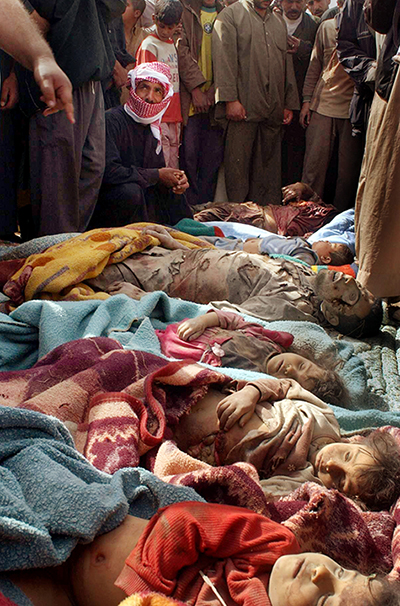 Children killed in 2006 by U.S. airstrikes in Iraq.