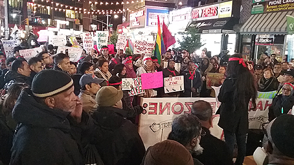 Rally for a hate-free zone in Queens, December 3