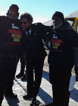 Cornel West with Carl Dix and a member of the Revolution Club