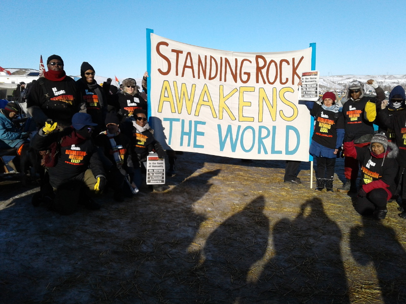 Revolution Club delegation at Standing Rock