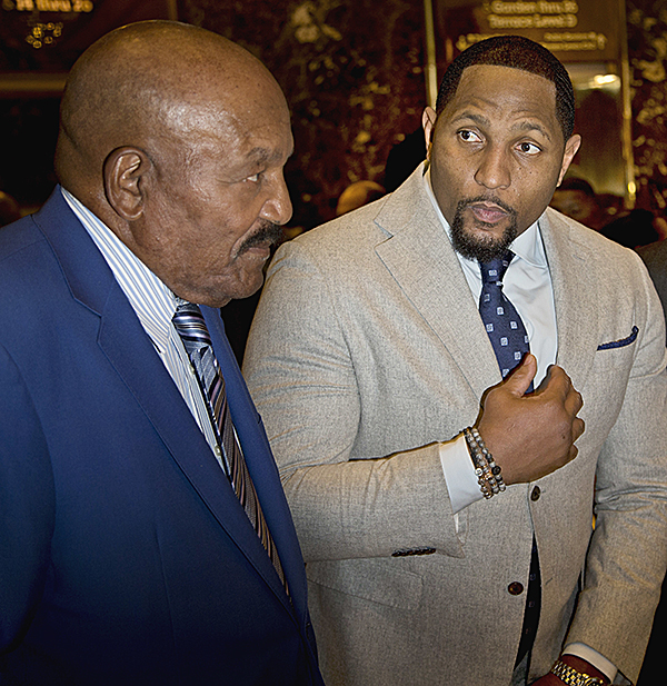 Jim Brown and Ray Lewis at Trump Tower