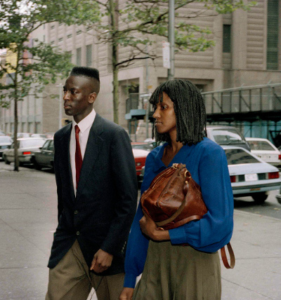 Yusef Salaam enters court with his mother during the trial, 1990.