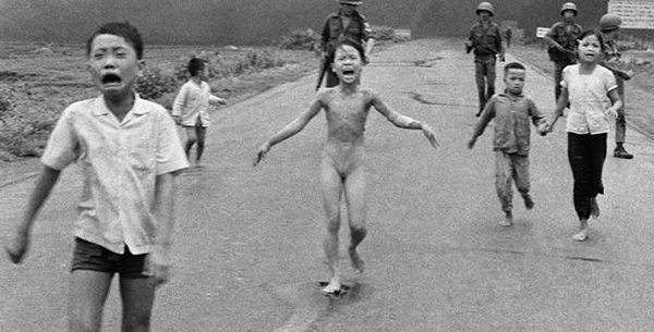 Children napalmed in Vietnam war