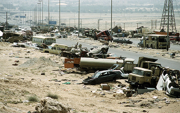 Highway of death, Iraq