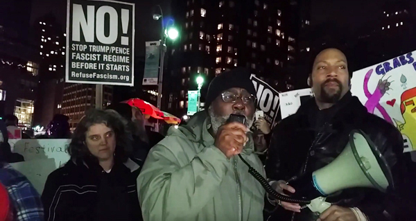 Carl Dix, Nochevieja, Columbus Circle, Nueva York