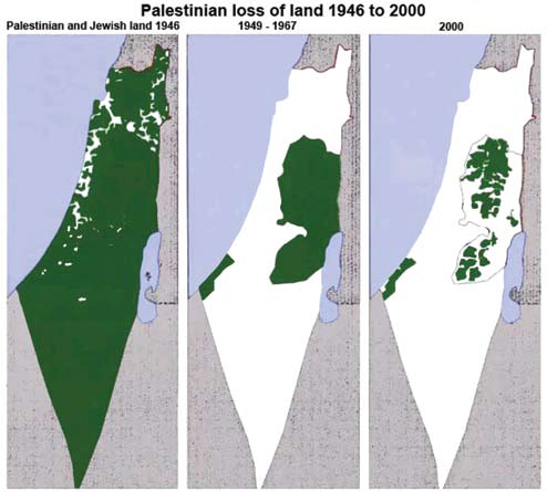 Map showing theft of Palestinian land