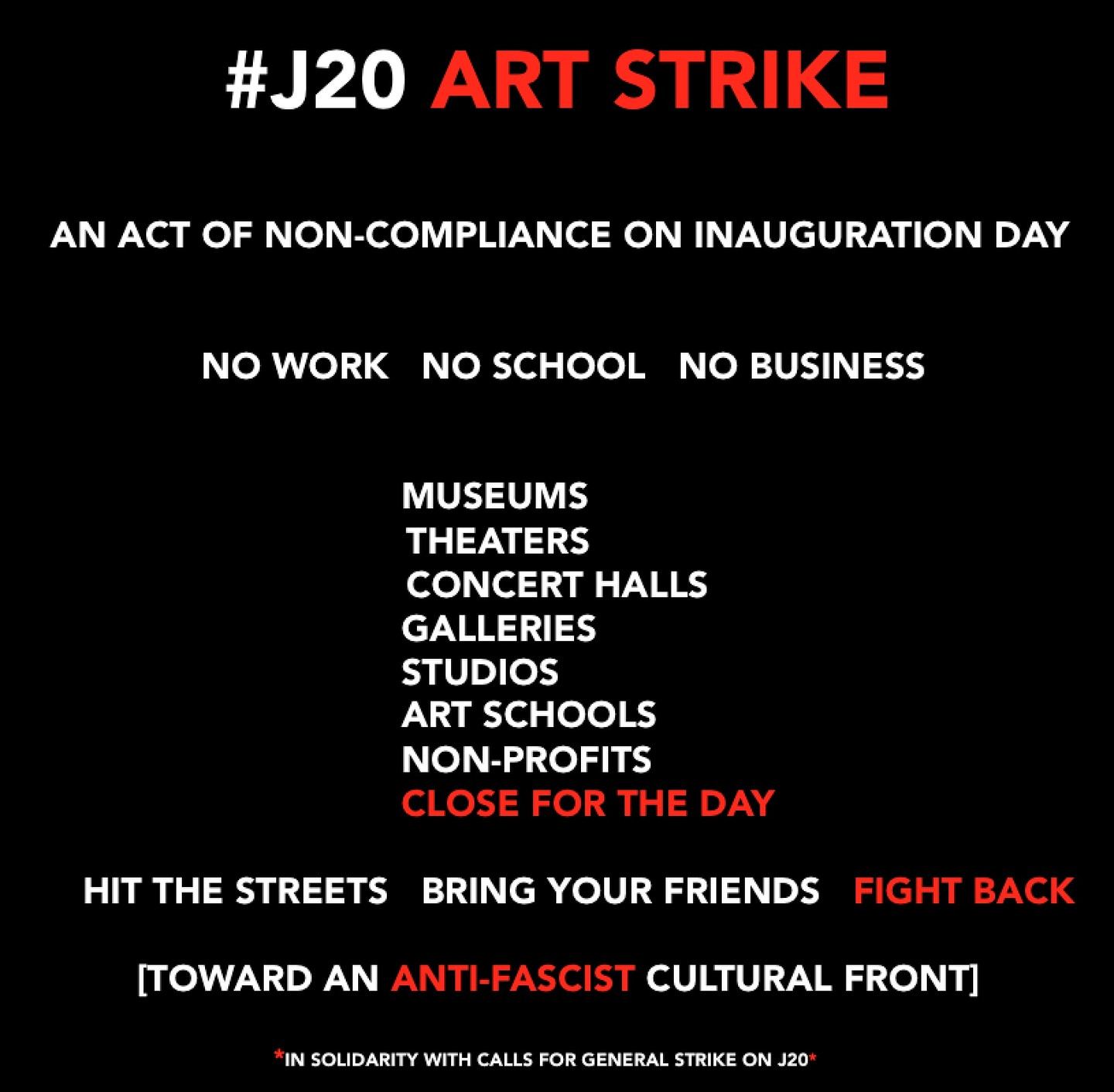 """Art strike"" meme"