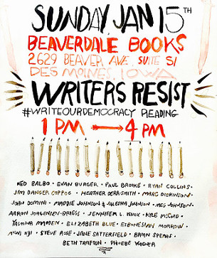 Writers Resist poster