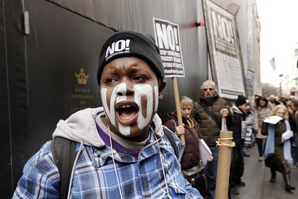 Protesta fuera de la Torre Trump el 11 de enero (Foto:AP)