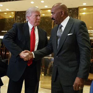 Steve Harvey meets with Donald Trump