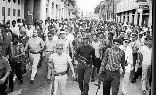 The April 24, 1965 rebellion in the dominican Republic was a mix of forces.