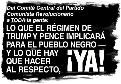 Del Comité Central del Partido Comunista Revolucionario a TODA la gente