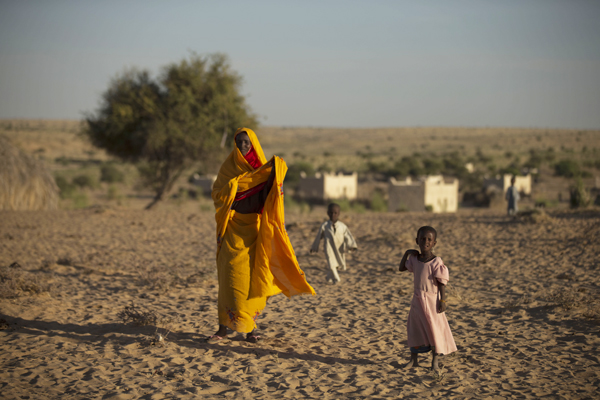 Severe drought in Chad, 2012.