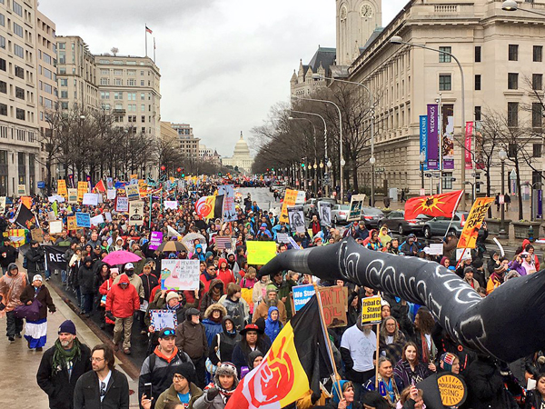 Thousands of people filled the streets of D.C. standing with the struggle at Standing Rock.