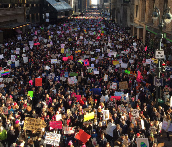 More than 200,000 people protest in New York City, among 4 million across the U.S.