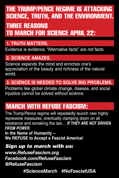 three reasons why Science March is important