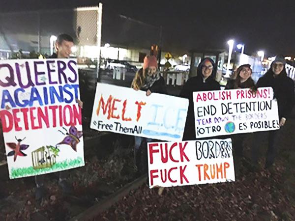 Protesta en apoyo a los prisioneros del NWDC.