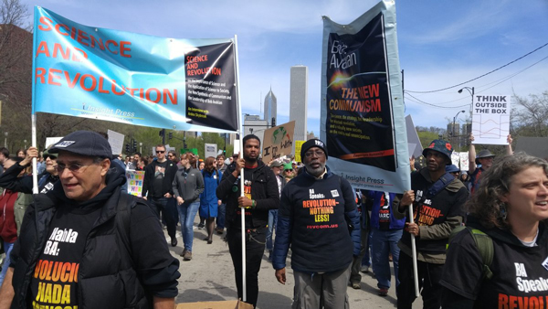 Revolution Club at the Science March in Chicago