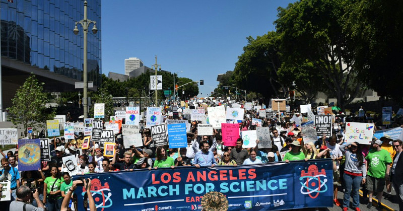 Los Angeles march for science, April 22