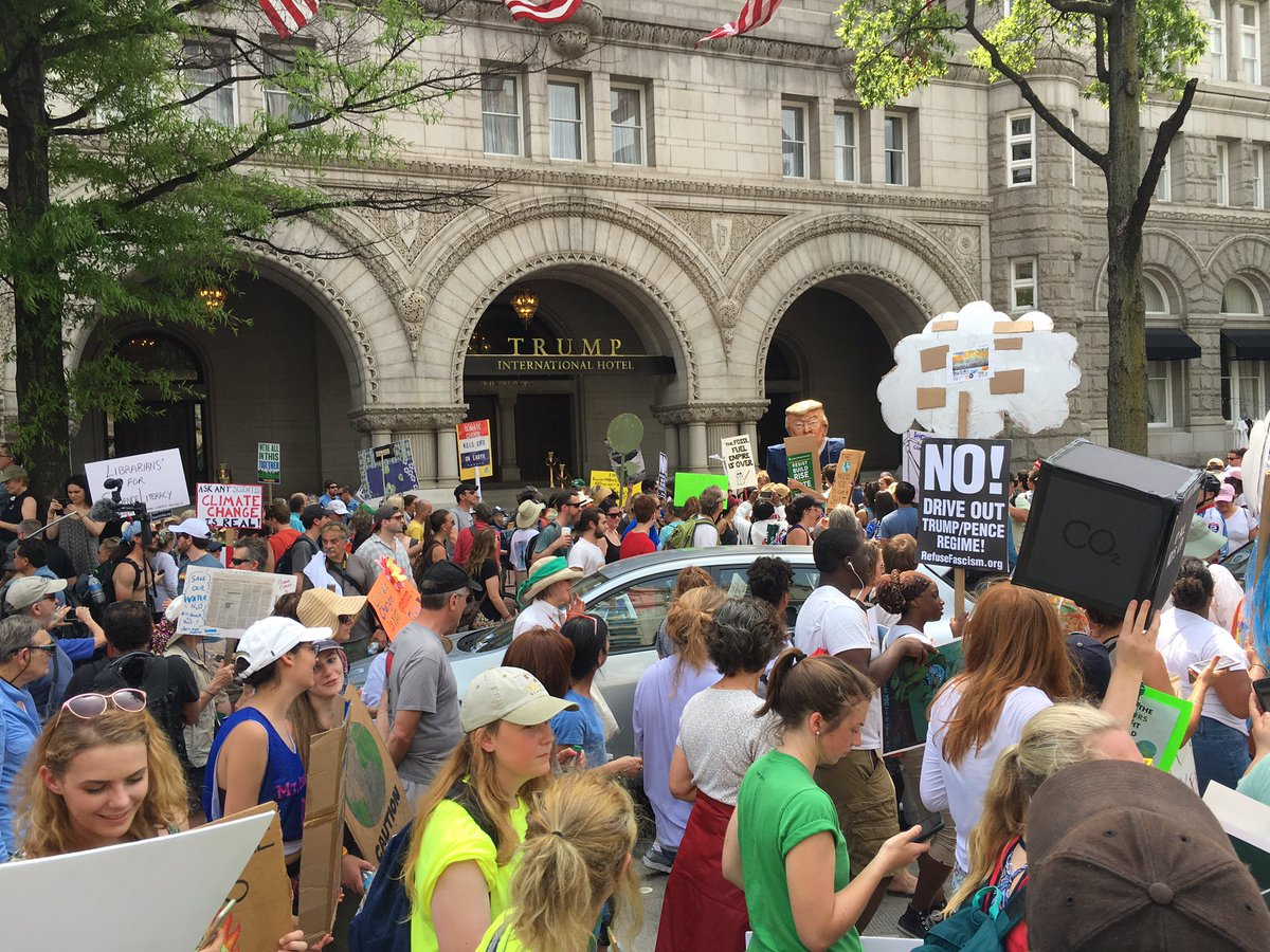 Trump Hotel, Washington, DC, Climate March