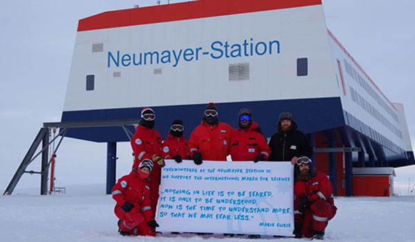 Scientists on the continent of Antarctica, which is melting faster than previously thought, add their message to the March for Science.