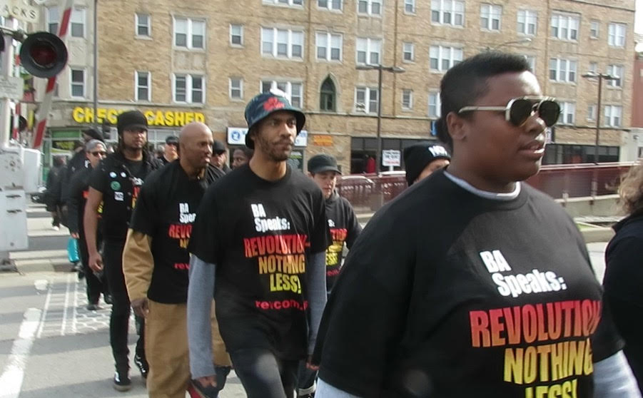 Revolution Club Marching in Chicago