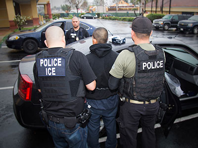 Immigration raid in Los Angeles, CA, February 2017