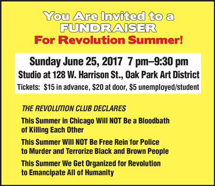 Les invitamos a un acto de recaudación de fondos para el Verano de la Revolución