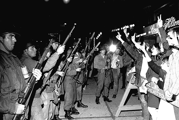 Protest at 1968 Chicago DNC