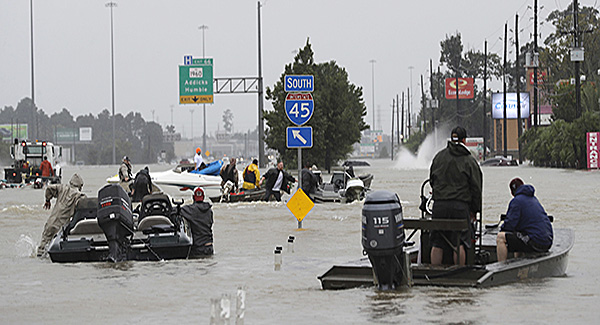 Traversing the floodwaters from Hurricane Harvey