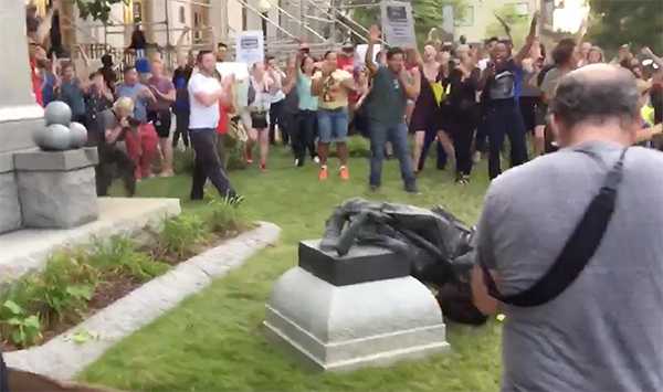 Confederate statue pulled down in Durham, NC