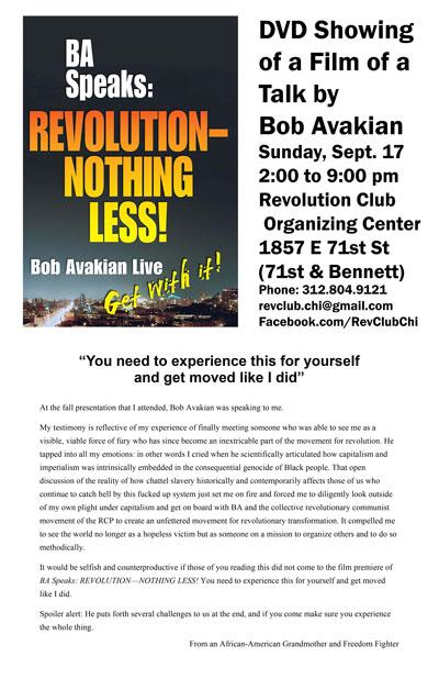 Revolution #508, September 11, 2017