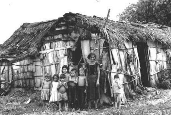 "Native peoples from South America, ""guajiros,"" were imported to provide the backbreaking and health destroying labor for the production of cane sugar."